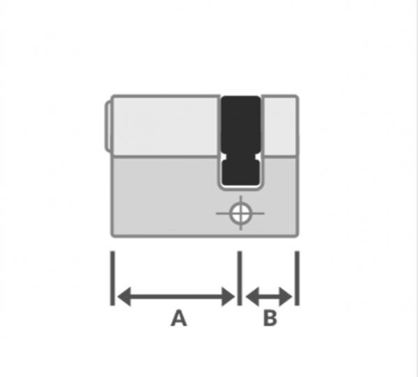 halve cilinder sleutel Iseo veiligheidscilinder R6 SKG**