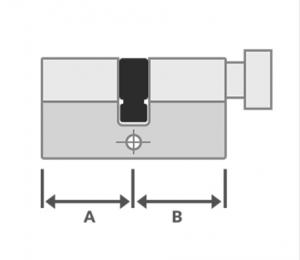 knop cilinder Iseo veiligheidscilinder R6 SKG**